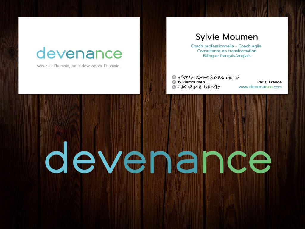 Devenance.com - 2019 - Nouveaux Logo & Carte de visite
