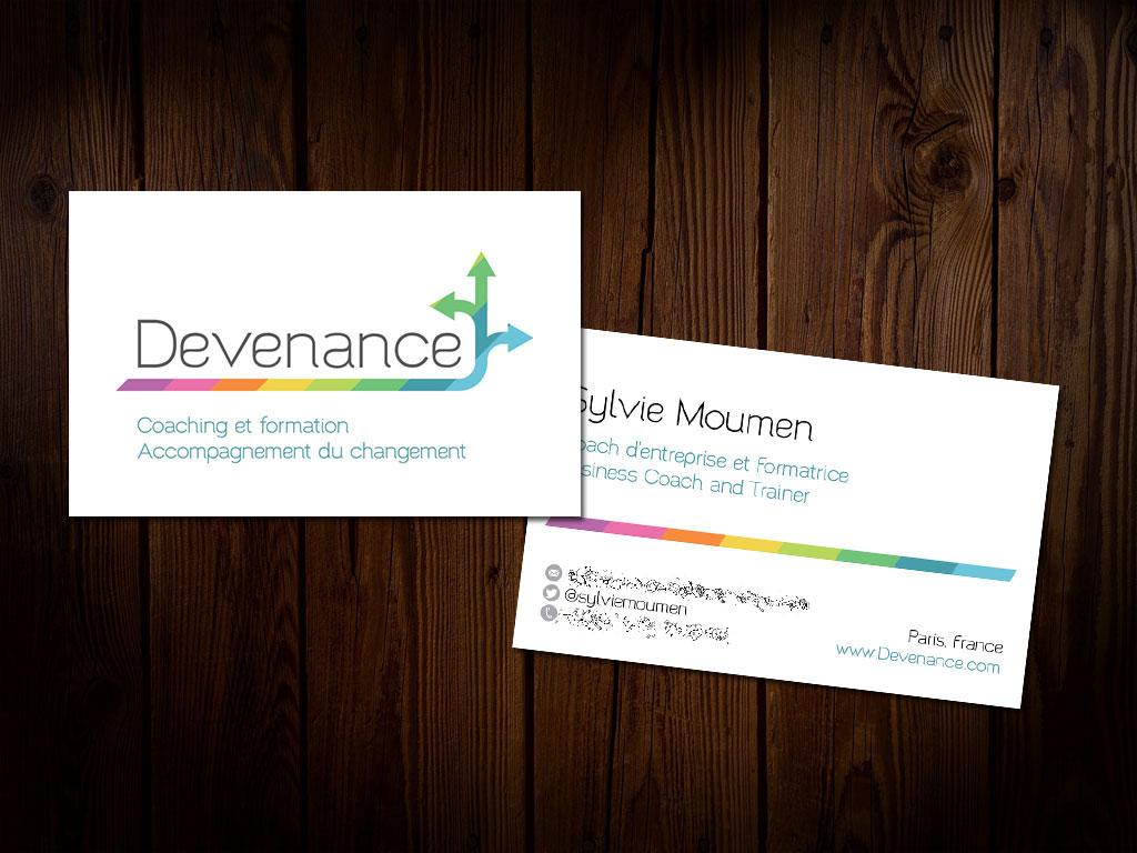 Devenance.com - 2014 - Logo et Carte de visite