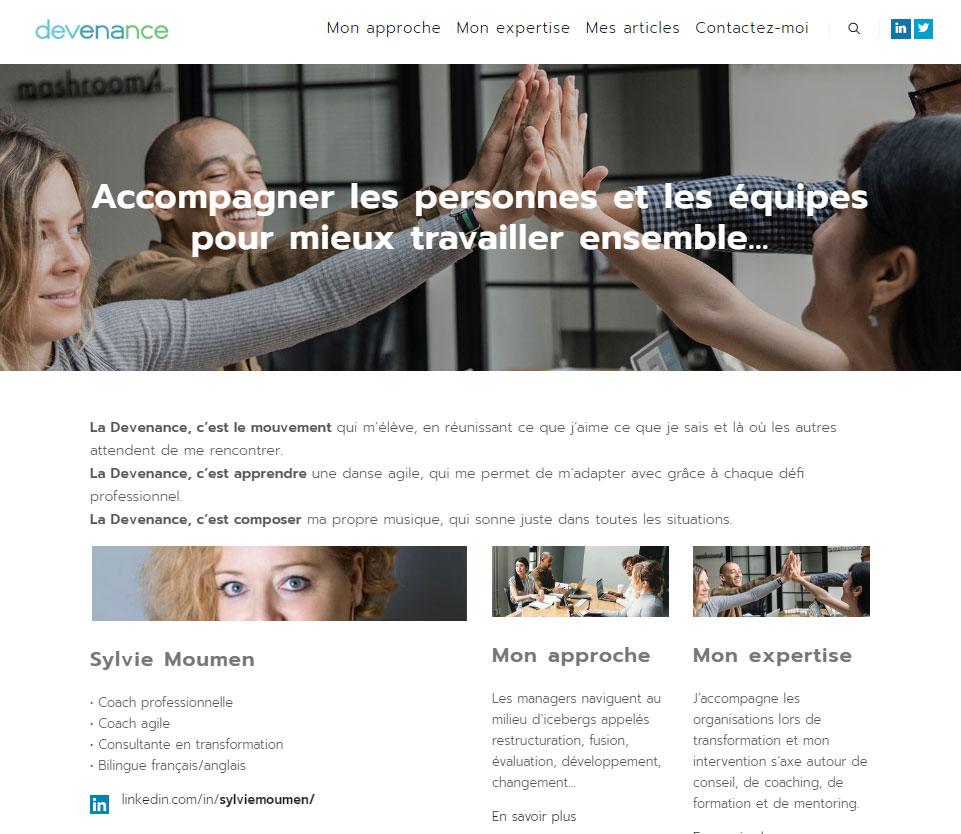 Devenance.com - 2019 - Site internet