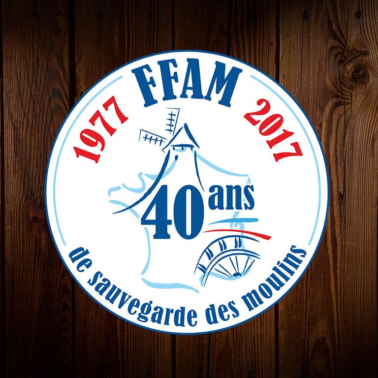 www.moulinsdefrance.org - Logo des 40 ans