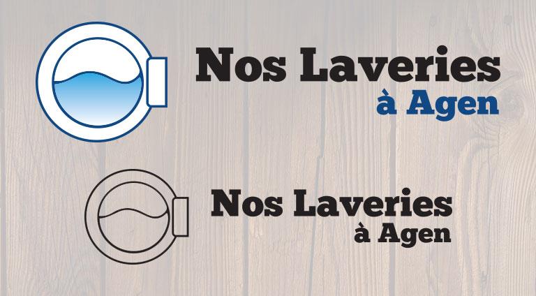 Laveries Agen - Logotype