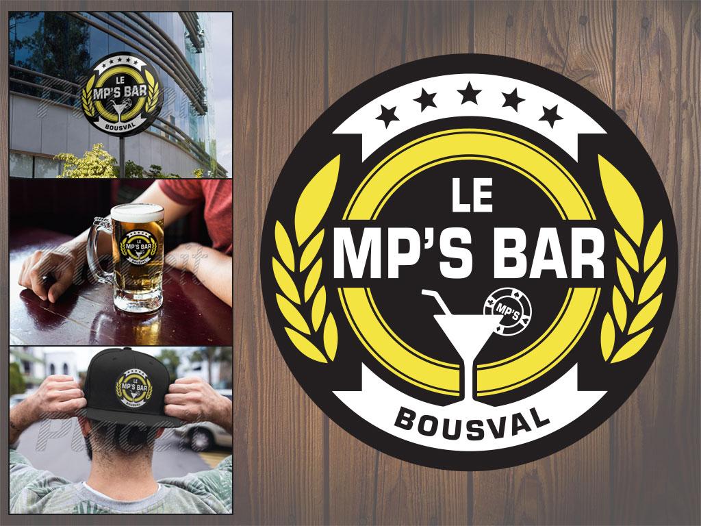 MP's BAR - Logotype et mise en situationMP's BAR - Logotype et mise en situation