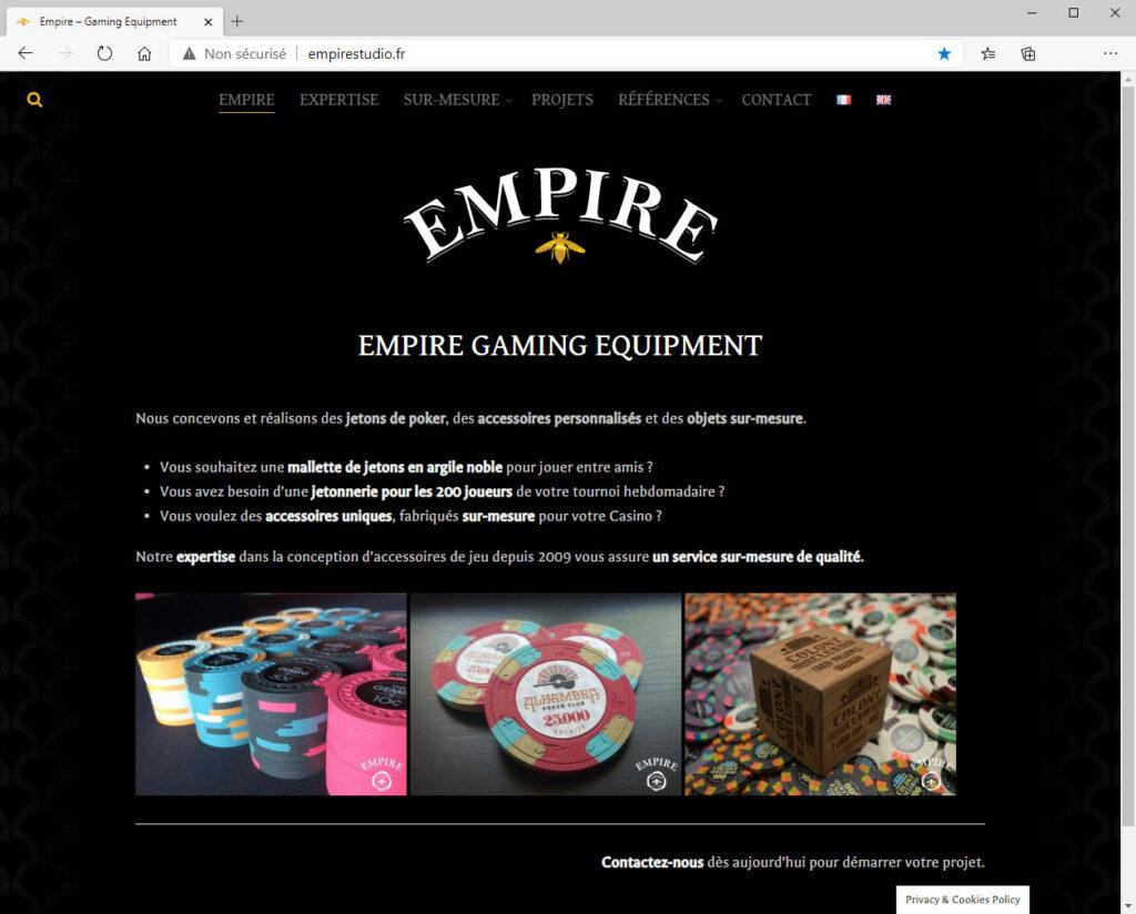 Empire Gaming Equipment - Site Internet & Logotypes
