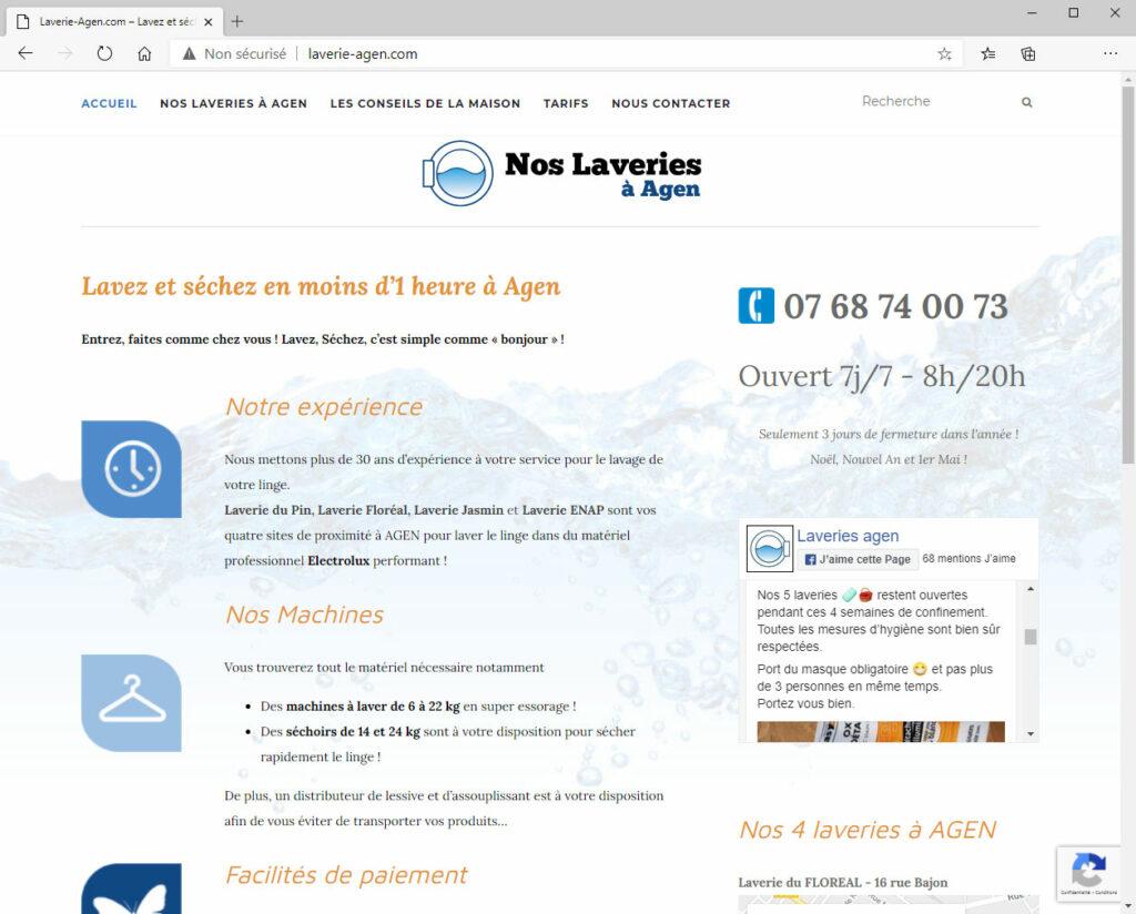 Laveries Agen - Site Internet & Logo
