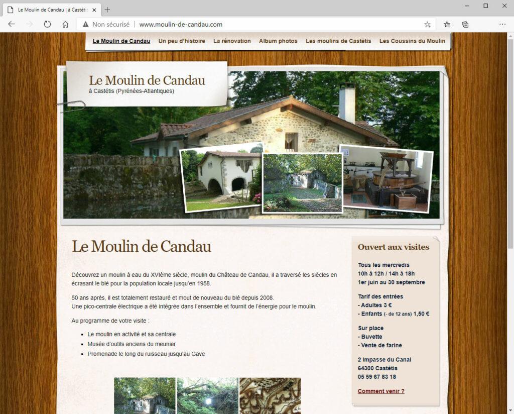 Moulin de Candau - Site Internet