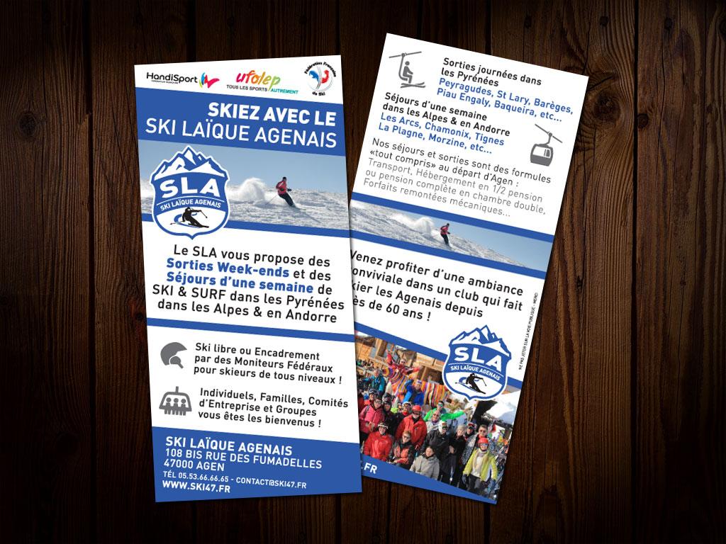 Ski Laïque Agenais - Flyer format A5 recto/verso