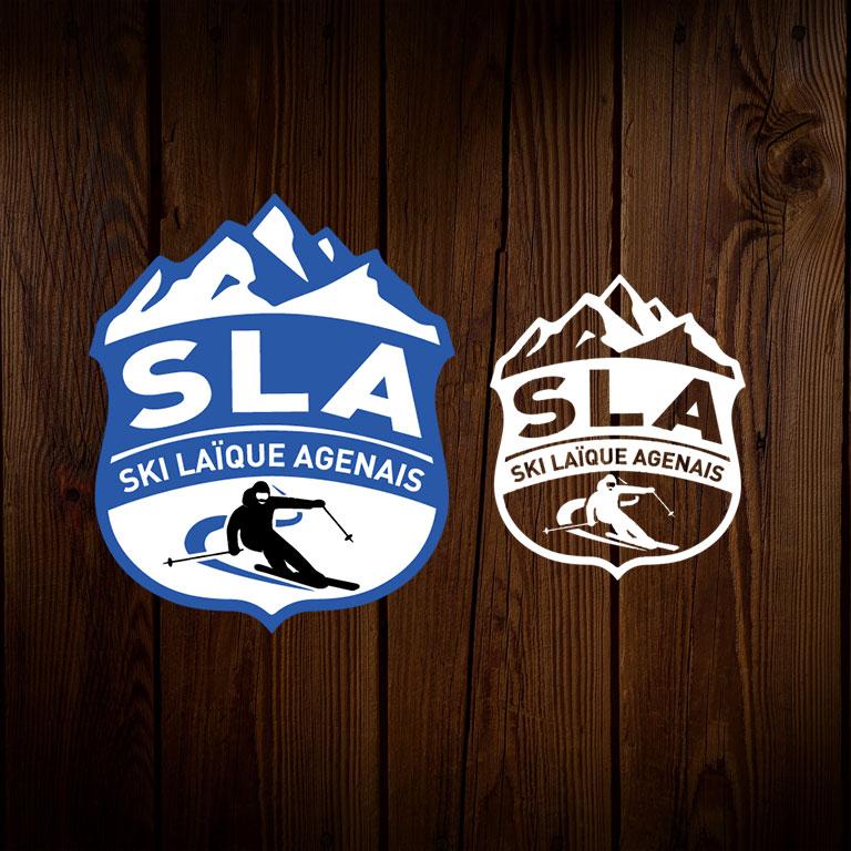 Ski Laïque Agenais - Logotype du club et déclinaison tous supports