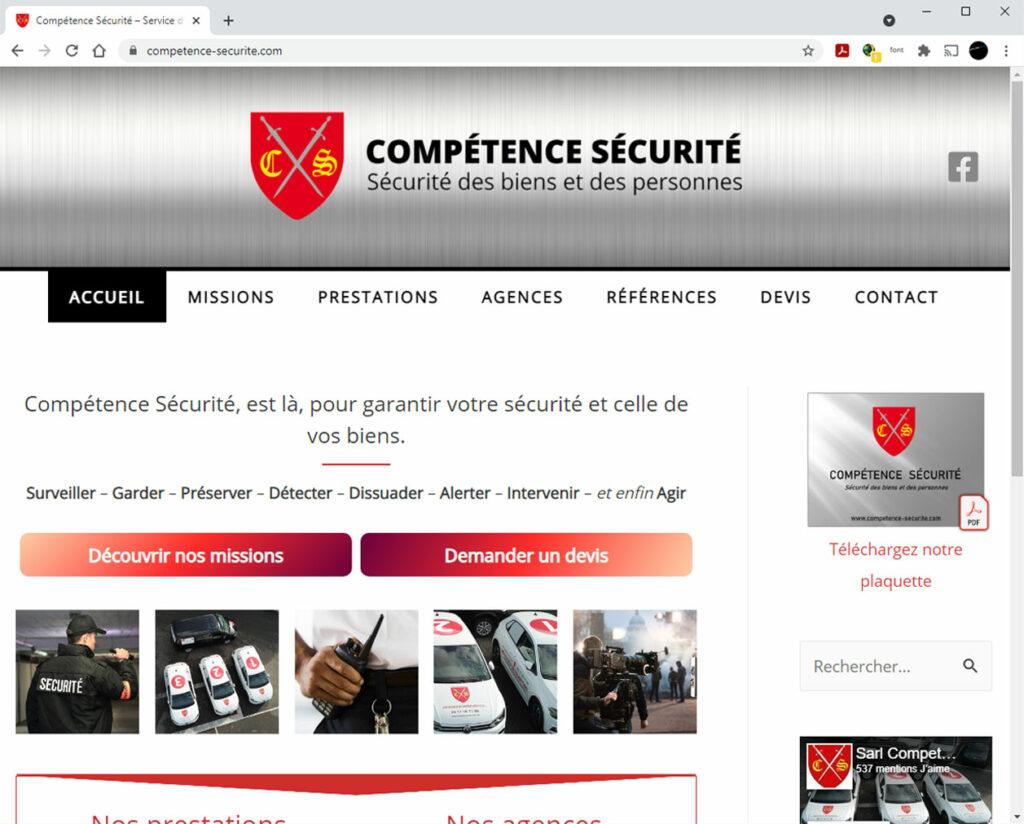 Compétence Sécurité - Refonte du site internet